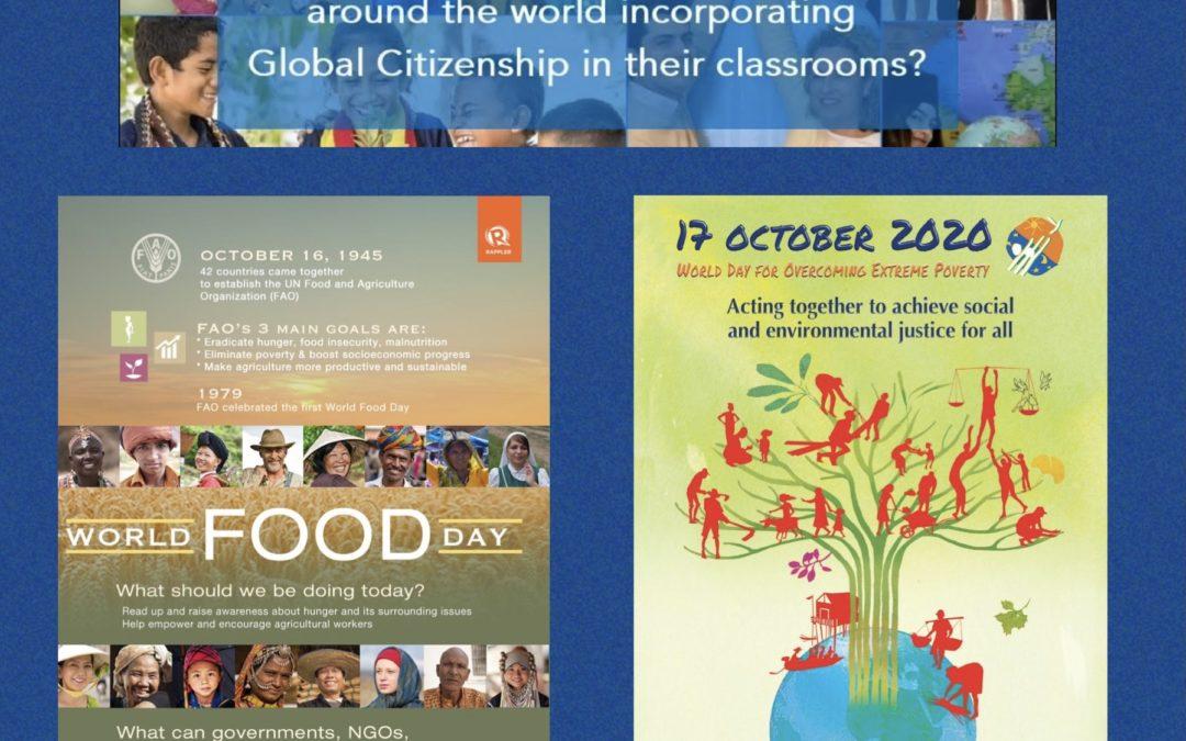 """""""World Day to eliminate Hunger"""" – """"World Day to eradicate Poverty"""" – 16 e 17 ottobre: due giornate mondiali per i primi due obiettivi dell'Agenda 2030"""